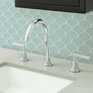 Wallpops Mint Shell Peel and Stick Backsplash Tiles Contemporary Seafoam Green