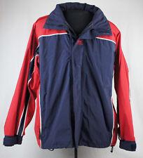 Helly Hansen Blue Red Jacket Snowboard Ski Hood Mens M