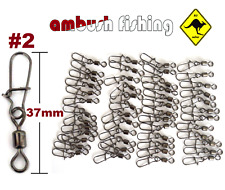 Rolling Swivels size #2 with quality snap test 30 kgs  50 pack BULK swivel lure