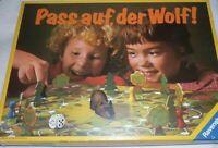 Pass auf, der Wolf ! O ® Ravensburger ©1981 Western Germany ! Kinder Brett Spiel