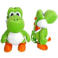 "Nintendo SUPER MARIO BROS PLUSH YOSHI 16"" Backpack Buddy Travel Toy Bag NEW"