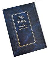 Español Pentateuco Torah Libro Español&Hebreo Oración Judía&Haftarot .blue new