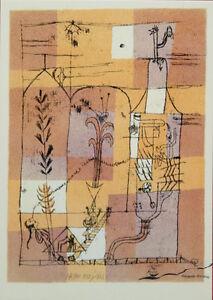 "Kunstpostkarte  Bauhaus   Paul Klee  ""hoffmaneske märchenscene"" 1921"