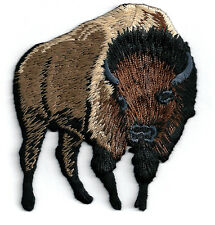 Buffalo - Bison - Brown - Embroidered Iron On Applique Patch - R