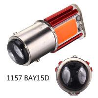 2PCS 12V Red 1157 BAY15D COB LED Car Tail Stop Brake Light Turn Signal Bulb Lamp
