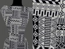 10,20 €//m 50cm STOFF BAUMWOLLMISCHUNG elastisch Abstrakt geometrische Muster