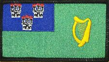 DUBLIN  Flag Patch With VELCRO® Brand Fastener BLACK Border #13