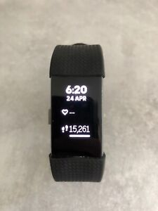 Fitbit Charge 2 Heart Rate Fitness Activity Tracker, Size L - Black