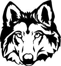 """8"""" Wolf Cabeza Etiqueta Auto / Van calcomanía Gráfico / La Ventana / panel del cuerpo"""