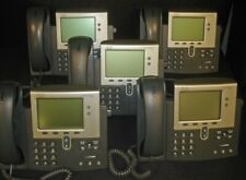 LOT of 5 CISCO 7942 CP-7942G IP Business VOIP Phone Telephone with Stand POE