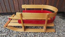 GREAT Wooden Baby Sled Wooden Runners and Wooden  Handle Ready to Use