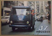 PEUGEOT J7 RANGE orig 1969 1970 Prestige Sales Brochure Depliant in French