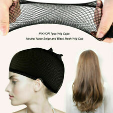 6 Hair wig cap net mesh liner snood stocking stretching breathable unisex