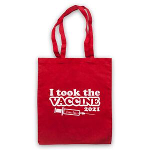 I TOOK THE VACCINE 2021 VIRUS VACCINATION FUNNY PARODY SHOULDER TOTE SHOP BAG