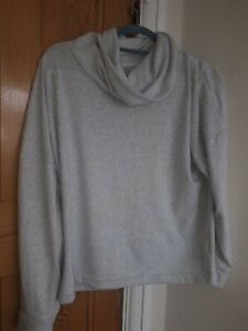 Figleaves Grey Supersoft Knit Cowl Neck lounge  Top Size 18