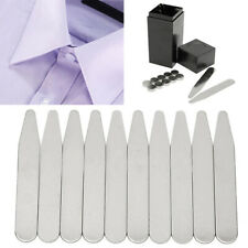 21x Shirt Magnetic Stainless Steel Metal Collar Stays with Coated Insert In Box