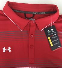 Under Armour Conquest On-Field Performance Golf Polo Shirt Red 3XL