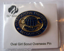 Girl Scout OVERSEAS PIN International Friendship Recognition Award Official NEW