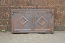 46 x 27 cm old steel fire bread oven door/doors clay/range/pizza fireplace