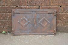 46 x 27 cm old steel fire bread oven door/doors clay/range/pizza fireplace