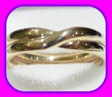 HEAVY 3.6G SOLID 9CT GOLD DOUBLE TWIST WEDDING/ETERNITY ENGLISH BAND RING HM~L½