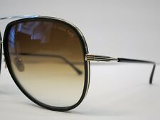 200655bf37d DITA CONDOR TWO Black 12K Gold Brown Lens Optique Glasses Eyewear Sunglasses