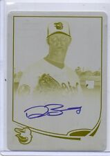 2013 Topps Chrome Yellow Printing Plate Dylan Bundy Autograph RC 1/1