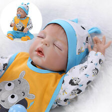 "Full Body Silicone 22"" Dolls New  Reborn Real Looking Boy Baby Newborn Baby Doll"