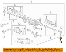 GM OEM Steering Gear-Outer Tie Rod Nut 11609283