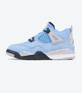 Nike Air Jordan 4 Retro University Blue Black BQ7670-400 Toddler Sz 4C -10C