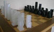 LARGE VINTAGE INCA/AZTEC/MAYA STONE/MARBLE CHESS SET