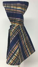 """Vintage Navy Blue Plaid Doll Hooded Cape 6 1/2"""" Long Clothing"""