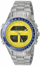 NEW Sartego SPW37 Mens Diver Watch Analog Digital Chronograph World Timer Sport