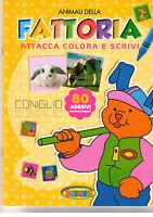 Attacca, colora e scrivi Animali della fattoria - Salvadeos - nuovo in offerta!