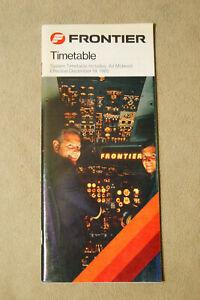 Frontier Airlines Timetable - Dec 18, 1985