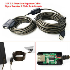 Accurate 25Ft USB 2.0 Extension Repeater Cable Signal Booster A Male To A Female