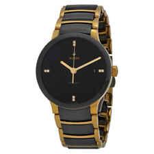 Rado Centrix Black Dial Gold-plated and Black Ceramic Men's Watch R30035712