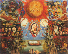 "Moses  by Frida Kahlo  14""  Paper Print Repro"