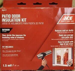 Outdoor Patio Door Insulation Film Kit ~ New ~ Ships Fast