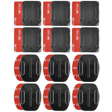 Curved Adhesive 12Pcs Helmet Accessories Flat Mount For Gopro Hero 1/2/3 /3+/4