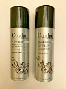 Ouidad  Revive & Shine Dry Oil Mist @ Clean Sweep  (2 oz. & 2.2 oz.) Lot of 2.