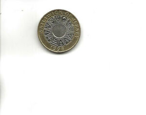 1998 Bailiwick Of Jersey £2 Two Pound Coin - Circulated