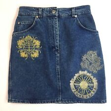 "Ferre Jeans Women's Denim Mini Skirt  Waist 28"" Size Average 6-8"