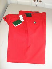 Men's Brooks Brothers St Andrews Links Men's Polyester Red Golf Pants 36x32 $129
