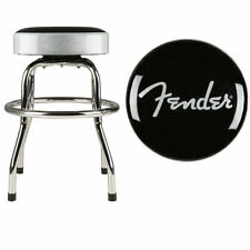Fender Barstool Silver Sparkle 24 Inch Swiveling Bar Stool w/ Padded Seat Top