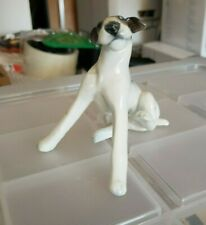 Vintage Rosenthal Fox Terrier Schnauzer Dog Sitting Rare Porcelain Figurine