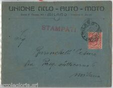 57082 - ITALIA REGNO - STORIA POSTALE :   BUSTA PUBBLICITARIA da MILANO 1922