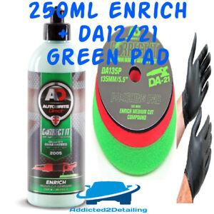 AUTOBRITE DIRECT CORRECT IT 250ML ENRICH POLISH&GREEN POLISHING PAD DA12/21+GLOV