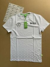 New Men Hugo Boss Green Alex Thomson Racing Mercedes T-Shirt White Size M