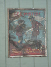 "VINTAGE MAINE DEPT of INLAND FISHERIES & GAME ""Gee Mister"" FISHING POSTER Rare"